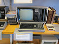 Tandy Radio Shack Model II with 12in monochrome CRT & 8in floppy drive, external Mini Disk, printer, cassette data recorder.jpg