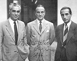 Piero Taruffi - Cisitalia people. From left: Taruffi, Piero Dusio and Giovanni Savonuzzi.