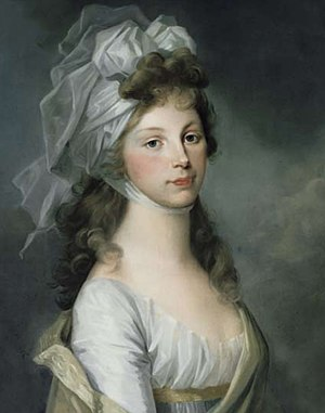 Louise of Mecklenburg-Strelitz - A painting by German artist Henriette-Félicité Tassaert of Louise in 1797, the year she became queen
