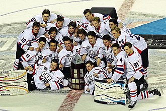 CHL/NHL Top Prospects Game - Team Orr celebrates their victory in the 2014 game