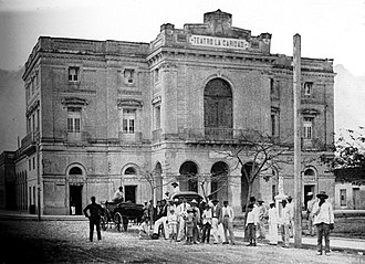 Teatro La Caridad - Historical photo of the La Caridad Theater shot on 1899.