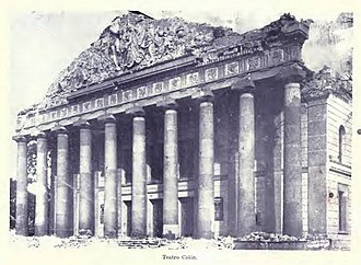 Carrera Theater (Guatemala) - Carrera Theater after the 1917–1918 earthquakes.  It was demolished in 1923.