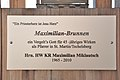 Techelsberg Sankt Martin 2 Maximilian-Brunnen Schild 09112011 913.jpg