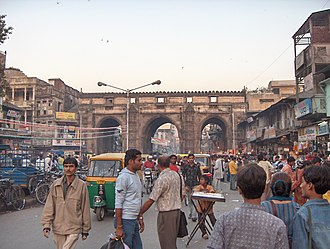 Ahmad Shah I - The Teen Darwaza (Triple Gateway) in Ahmedabad, built by Ahmad Shah I
