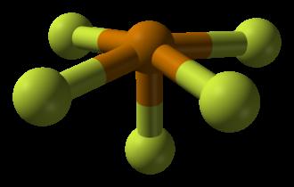 Tellurium tetrafluoride - Te coordination