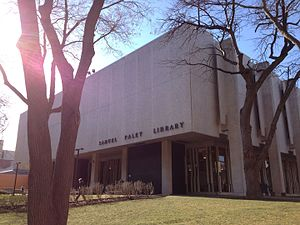 William S. Paley - Samuel L. Paley library at Temple University, named for William S. Paley's father