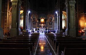 Blessed Sacrament - Perpetual adoration at the National Expiatory Temple of San Felipe de Jesus, Mexico City