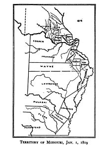 Territory of Missouri, 1 January 1819.jpg