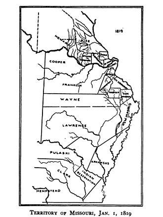 Arkansas Territorial Militia - Image: Territory of Missouri, 1 January 1819