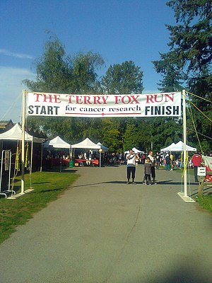Start and finish line, Terry Fox Run, Burnaby,...