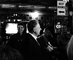 Texas Governor Rick Perry's Campaign Stop at Skeeter's Mesquite Grill, Kingwood, Texas 103110164502BW (5141610662).jpg