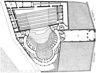 Théâtre Historique - Plan of the Théâtre Historique
