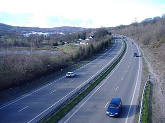 A469 road - Image: The A469 from Caerphilly to Rhymney geograph.org.uk 372483