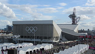 The Aquatic Centre and Orbit viewed from Cisco House.jpg