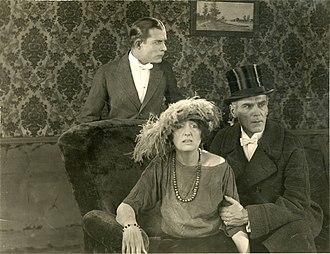 Norman Pritchard - Trevor at right with Earle Foxe and Florence Reed in The Black Panther's Cub (1921).