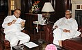 The Chief Minister of Odisha, Shri Naveen Patnaik meeting the Union Minister for Finance, Corporate Affairs and Defence, Shri Arun Jaitley, in New Delhi on June 02, 2014.jpg