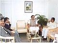 The Chief Minister of Tripura Shri Manik Sarkar called on the Minister of State for Commerce, Shri Jairam Ramesh, in Agartala on December 15, 2006.jpg