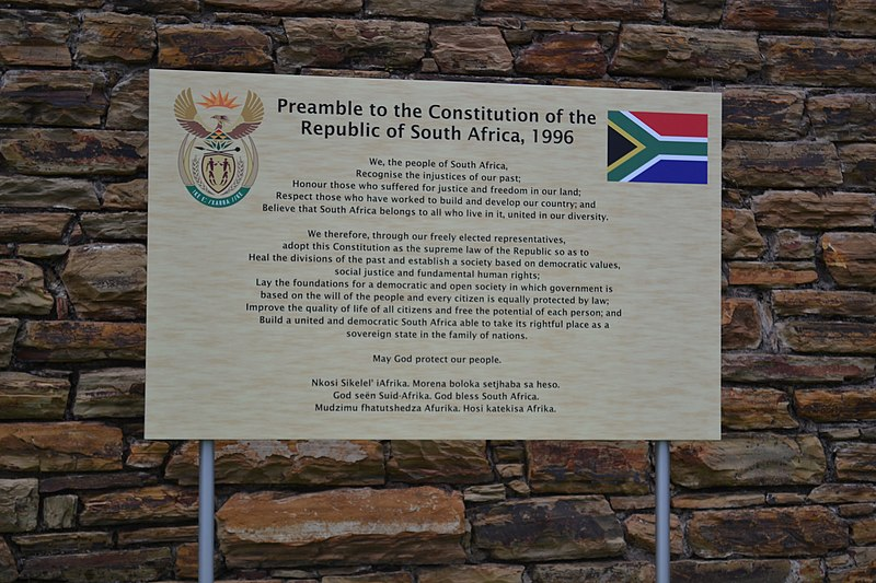 democratic constitution in south africa struggle Negotiations to end apartheid in south africa the convention for a democratic south africa the mpnf ratified the interim constitution in the early hours of.