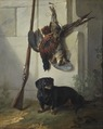 The Dachshound Pehr with Dead Game and Rifle (Jean-Baptiste Oudry) - Nationalmuseum - 17867.tif