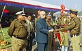 The Deputy Prime Minister Shri L.K. Advani presenting General Choudhury Trophy to 143 Battalion of Border Security Force (BSF) for excellent performance at the 38th BSF Raising Day Celebration Parade in New Delhi on December 1.jpg