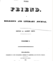 The Friend, a religious and literary journal (1827, Vol. 1, Philadelphia).png
