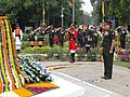 The GOC–in-C Central Comd., Lt. Gen. Rajan Bakshi paying homage at Teen Murti on the occasion of World War-I Centenary Commemoration, in New Delhi on March 14, 2015.jpg