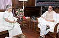 The Governor of Kerala, Smt. Sheila Dikshit calling on the Union Home Minister, Shri Rajnath Singh, in New Delhi on August 25, 2014.jpg