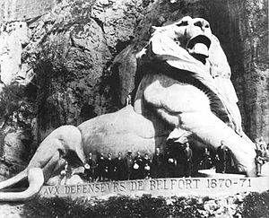 Lion of Belfort - Image: The Lion of Belfort, by Bartholdi