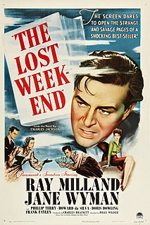 <i>The Lost Weekend</i> (film) 1945 film by Billy Wilder