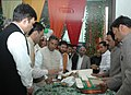 The Minister of State (Independent Charge) for Micro, Small & Medium Enterprises, Shri K.H. Muniyappa visits after inaugurating the Khadi Gramodyog Bhavan, in New Delhi on February 26, 2014.jpg