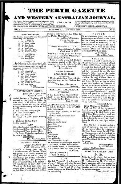 File:The Perth Gazette and Western Australian Journal 1(25).djvu