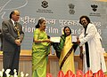 The President, Smt. Pratibha Devisingh Patil presenting the Award for Best Male Playback Singer to Shri Hariharan for Marathi film 'Jogva', at the 56th National Film Awards function, in New Delhi on March 19, 2010.jpg
