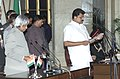 The President Dr.A.P.J.Abdul Kalam administering the Oath (MOS, Independent Charge) to Shri G.K,Vasan, in New Delhi on January 29,2006.jpg