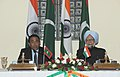 The President of the Republic of Maldives, Mr. Abdulla Yameen Abdul Gayoom and the Prime Minister, Dr. Manmohan Singh, at the Joint Press Conference, in New Delhi on January 02, 2014.jpg