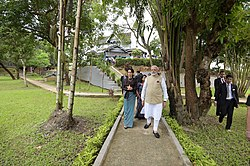 The Prime Minister, Shri Narendra Modi with the State Counsellor of Myanmar, Ms. Aung San Suu Kyi, at Bogyoke Aung San Museum, in Yangon, Myanmar on September 07, 2017 (5).jpg