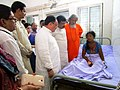 The Union Minister for Health & Family Welfare, Shri J.P. Nadda interacting with the victims of SUM Hospital fire tragedy, at Capital Hospital, in Bhubaneswar, Odisha.jpg