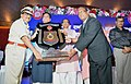 The Union Minister for Railways and Coal, Shri Piyush Goyal presenting the awards, at the closing ceremony of the 63rd Rail Week National Award function, in Bhopal, Madhya Pradesh.JPG