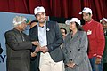 The former President, Dr. A.P.J. Abdul Kalam presenting the Election Photo Identity card to newly registered young voter, at the 5th National level function of National Voters' Day (NVD), in New Delhi on January 25, 2015.jpg