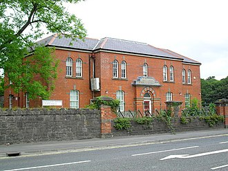 Enniskillen - The old Enniskillen Model School, now used as the Fermanagh office of the Western Education and Library Board (WELB)