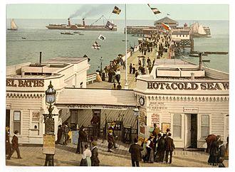 Clacton Pier - The pier circa 1895
