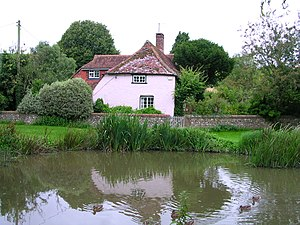 River Lavant, West Sussex - The source of the Lavant at East Dean pond