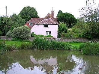 River Lavant, West Sussex - The source of the Lavant at East Dean pond