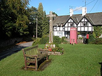 Rockfield, Monmouthshire - Image: The war memorial in Rockfield geograph.org.uk 249008