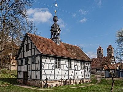 Friedhofskapelle aus Herrenbreitungen im Freilandmuseum Kloster Veßra