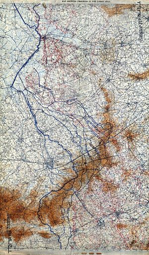 Hooge in World War I - Image: Third Ypres Map Showing Progress in the Ypres Area