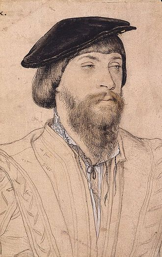 Thomas Vaux, 2nd Baron Vaux of Harrowden - Lord Vaux, by Hans Holbein the Younger