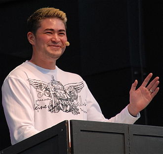 Trans man - Thomas Beatie at Stockholm Pride 2011, known in the media as the Pregnant Man, is a trans man who gave birth to three children.