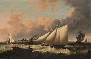 Revenue cutter off the Isle of Wight