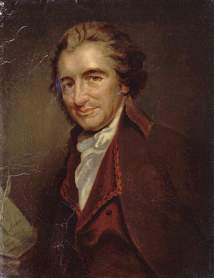 "Thomas Paine's 1775 article ""African Slavery in America"" was one of the first to advocate abolishing slavery and freeing slaves. Thomas Paine.jpg"