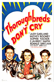 <i>Thoroughbreds Dont Cry</i> 1937 film by Alfred E. Green